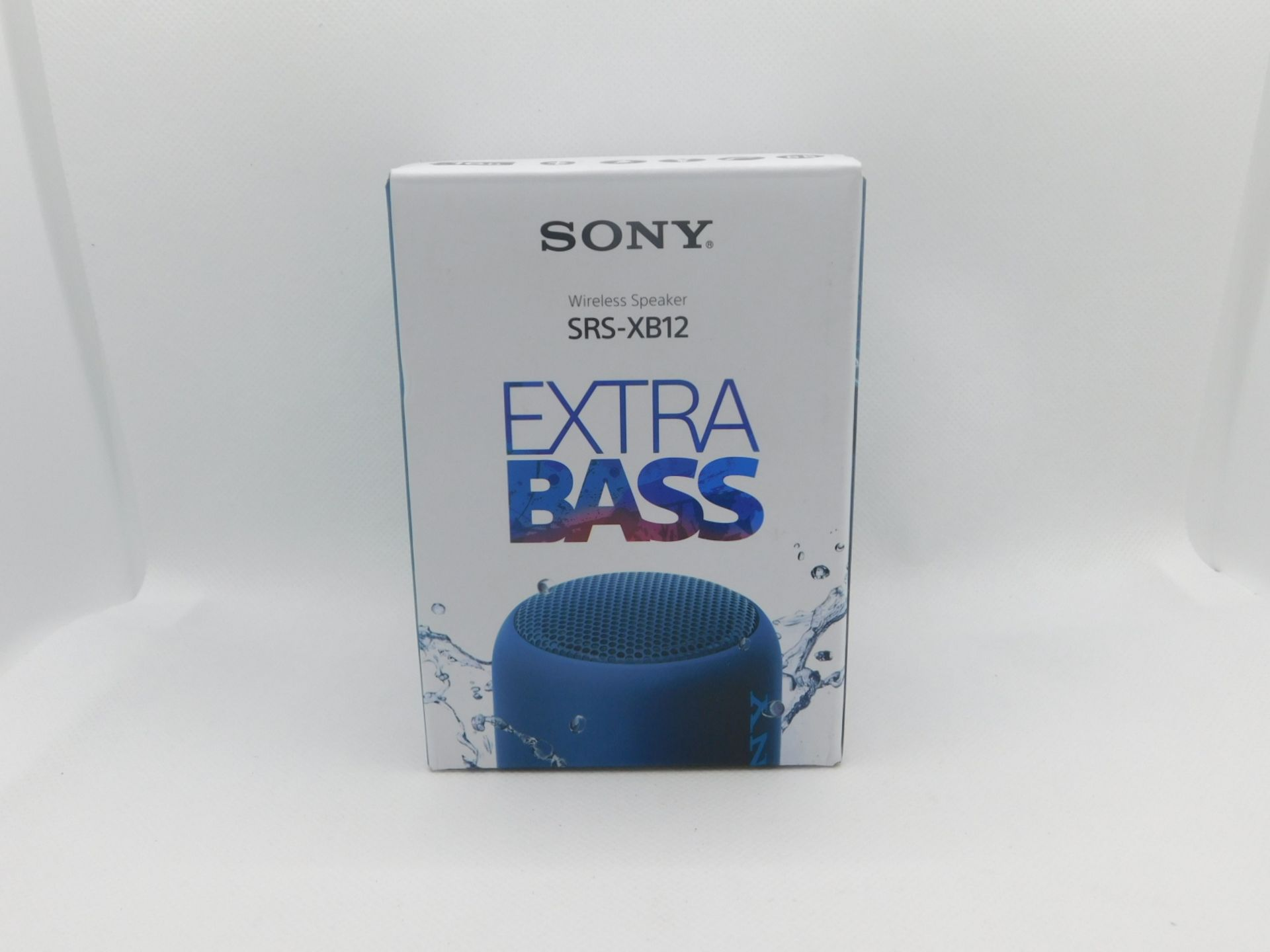 1 BOXED SONY SRS-XB12 EXTRA BASS WIRELESS BLUETOOTH SPEAKER RRP £59.99 (POWERS ON WORKING)