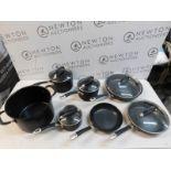 1 CIRCULON PREMIER PROFESSIONAL 13(APPROX)PIECE HARD ANODISED PAN SET RRP £229.99