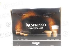 1 BOXED NESPRESSO BY SAGE CREATISTA UNO SNE500 COFFEE MACHINE RRP £399