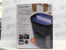 1 BOXED ROYAL 1216X 24L 12-SHEET CROSS CUT SHREDDER RRP £89.99
