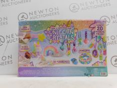 1 BOXED UNICORN CRYSTALS SET GROW AND PAINT YOUR OWN FIGURINES RRP £29