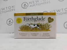 1 BOXED FORTHGLADE GRAIN FREE VARIETY PACK, 10 X 395G RRP £19