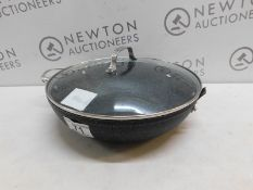 1 STARFRIT THE ROCK WOK WITH GLASS LID RRP £39 (NO HANDLE)