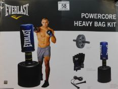 1 BOXED EVERLAST FIT POWERCORE FREESTANDING HEAVY BAG KIT RRP £199