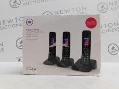 1 BOXED BT PREMIUM TRIO CORDLESS PHONE SET RRP £119.99