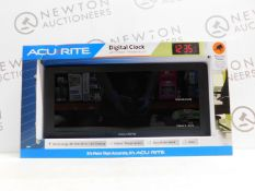 1 BOXED ACURITE DIGITAL CLOCK WITH INDOOR TEMPERATURE RRP £64.99