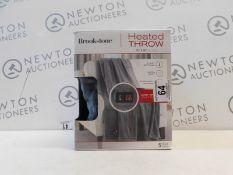 1 BOXED BROOKSTONE HEATED THROW 127 X 152 CM RRP £44.99