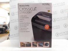 1 BOXED ROYAL 16MX 16-SHEET HEAVY DUTY CROSS CUT SHREDDER RRP £129.99