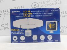 1 BOXED SUNFORCE LED TRIPLE HEAD SOLAR MOTION ACTIVATED LIGHT RRP £119.99