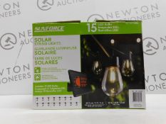 1 BOXED SOLAR POWERED INDOOR/OUTDOOR STRING LIGHTS RRP £49.99