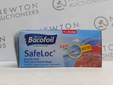1 BOX OF BACOFOIL SAFELOC DOUBLE SEAL FOOD AND FREEZER BAGS RRP £24.99