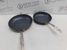 1 SET OF 2 GRANITESTONE DIAMOND PRO NON STICK FRY PANS RRP £79.99