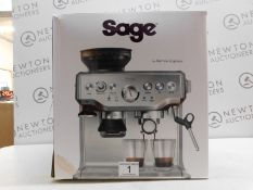 1 BOXED SAGE BARISTA EXPRESS BES875UK BEAN TO CUP COFFEE MACHINE RRP £549.99