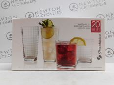 1 BOXED PASABAHCE 15 PIECE (APPROX) DISHWASHER SAFE GLASSWARE SET RRP £29.99