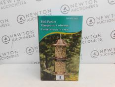 1 BOXED COPPER PLATED & GLASS BIRD FEEDER RRP £39