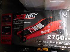 1 BOXED ARCAN XL2750EU 2750KG STEEL SERVICE JACK RRP £199