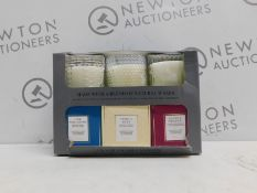 1 BOXED SET OF 3 TORC VARIETY FRAGRANCED CANDLES WITH GIFT BOXES RRP £39.99 (1 GLASS JAR BROKEN)