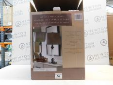 1 BOXED SET OF 2 CRYSTAL TABLE LAMPS RRP £49