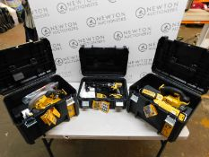 1 DEWALT DCK523P3T 18V XR 4-PIECE POWERTOOL KIT CONSISTS OF: DCD796 COMPACT BRUSHLESS DRILL