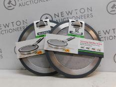 1 SET OF 2 TRAMONTINA PRO LINE STAINLESS STEEL SPLATTER SCREENS RRP £19.99 (NO HANDLES)