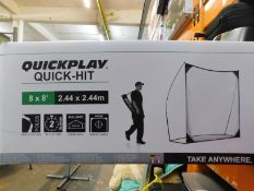 1 BOXED QUICKPLAY QUICK-HIT 8 X 8 GOLF SWING WALL RRP £129.99