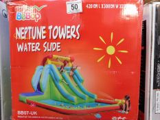 1 BOXED BEBOP NEPTUN TOWER WATER SLIDE (L 420 X W 300 X H 230 CM) RRP £499