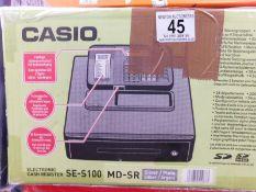 1 BOXED CASIO SE-S100 CASH REGISTER RRP £179.99