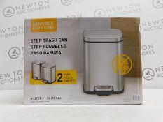 1 BOXED EKO STEP TRASH CAN 2PK RRP £29