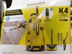 1 BOXED KARCHER K4 PREMIUM FULL CONTROL HOME-KIT PRESSURE WASHER RRP £249.99