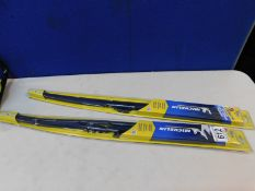 2 PACKS OF MICHELIN STEALTH WIPER BLADES IN VARIOUS SIZES RRP £19.99