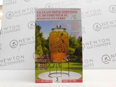 1 BOXED 12L GLASS DRINK DISPENSER RRP £19