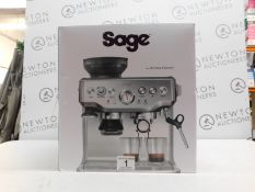 1 BOXED SAGE BARISTA EXPRESS BES875UK BEAN TO CUP COFFEE MACHINE RRP £599