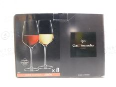 1 BOXED CHEF & SOMMELIER 4 PIECE KRYSTA EXTRA STRONG CRYSTAL WINE GLASSES RRP £39.99