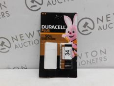 1 PACK OF 4 DURACELL 9V BATTERIES RRP £19.99