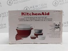 1 BOXED KITCHENAID BAKE, MIX AND MEASURE 12 PIECE (APPROX) SET RRP £34.99