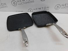 1 STARFRIT THE ROCK GRILL PAN & GRIDDLE SET RRP £79