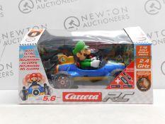 """1 BOXED NINTENDO MARIO KARTâ""""¢ MARIO OR LUIGI REMOTE CONTROL RACER CAR WITH BODY TILTING ACTION ("""