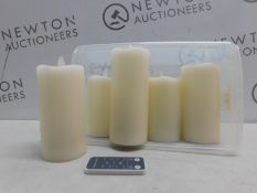 1 SET OF 5 COLOUR CHANGING LED WAX CANDLES WITH REMOTE CONTROL RRP £27.99