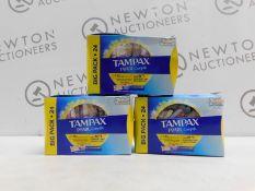 1 SET OF 3 BOXED TAMPAX PEARL COMPAK REGULAR APPLICATOR TAMPONS RRP £19