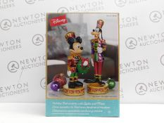 1 BOXED DISNEY 15.1 INCHES (38.5CM) CHRISTMAS MICKEY & GOOFY NUTCRACKERS RRP £99