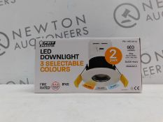1 BOXED FEIT ELECTRIC 2-PACK LED FIRE-RATED DOWNLIGHT WITH 3-COLOUR TEMPERATURES RRP £29