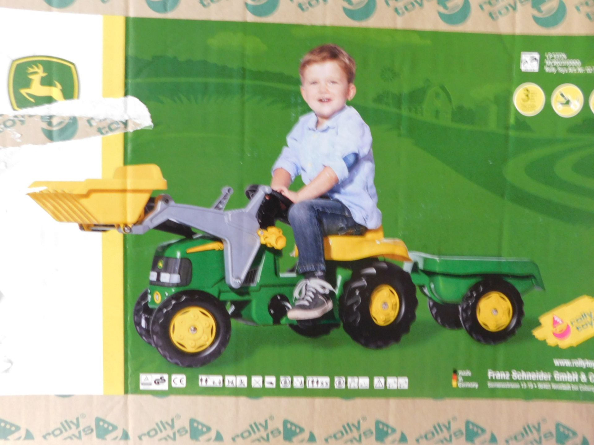 1 BOXED JOHN DEERE TRACTOR PEDAL RIDE ON RRP £99