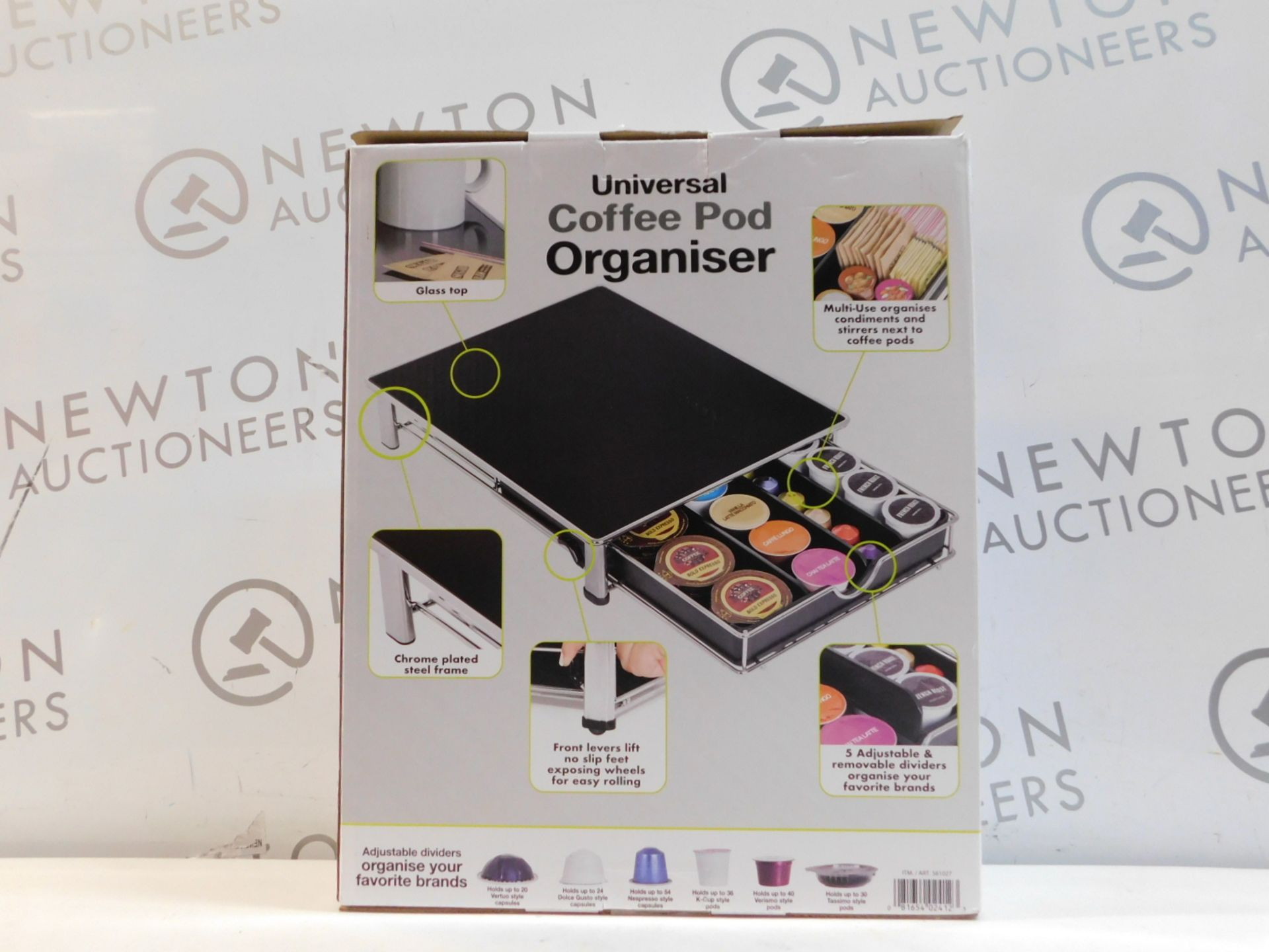 1 BOXED SMART DESIGN COFFEE POD ORGANISER RRP £39.99