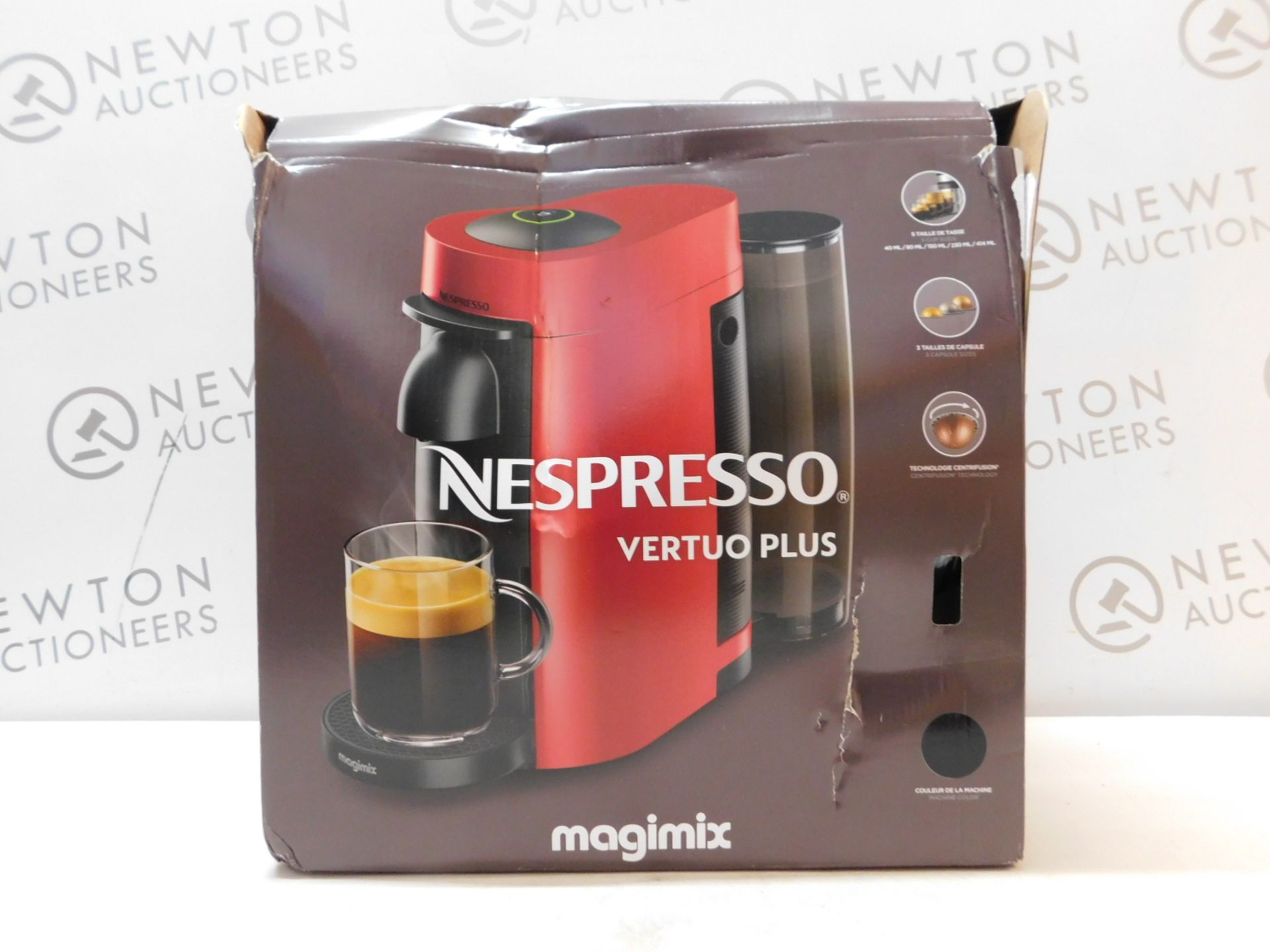1 BOXED NESPRESSO VERTUO PLUS 11399 COFFEE MACHINE BY MAGIMIX RRP £129