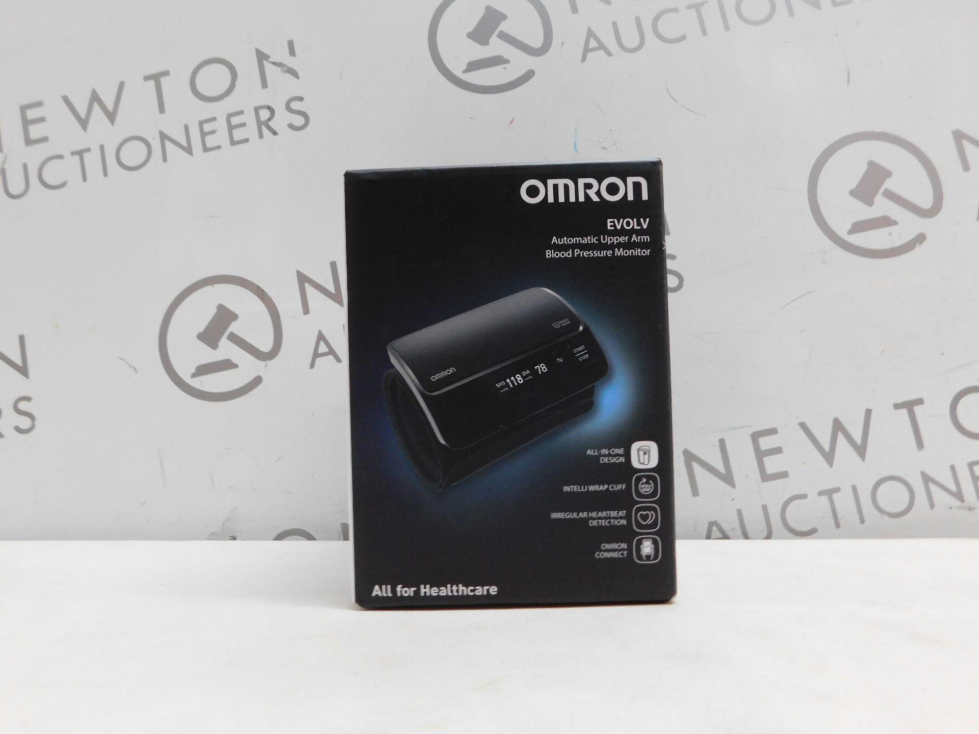 1 BOXED OMRON EVOLV AUTOMATIC UPPER ARM BLOOD PRESSURE MONITOR MODEL HEM-7600T-E RRP £129.99