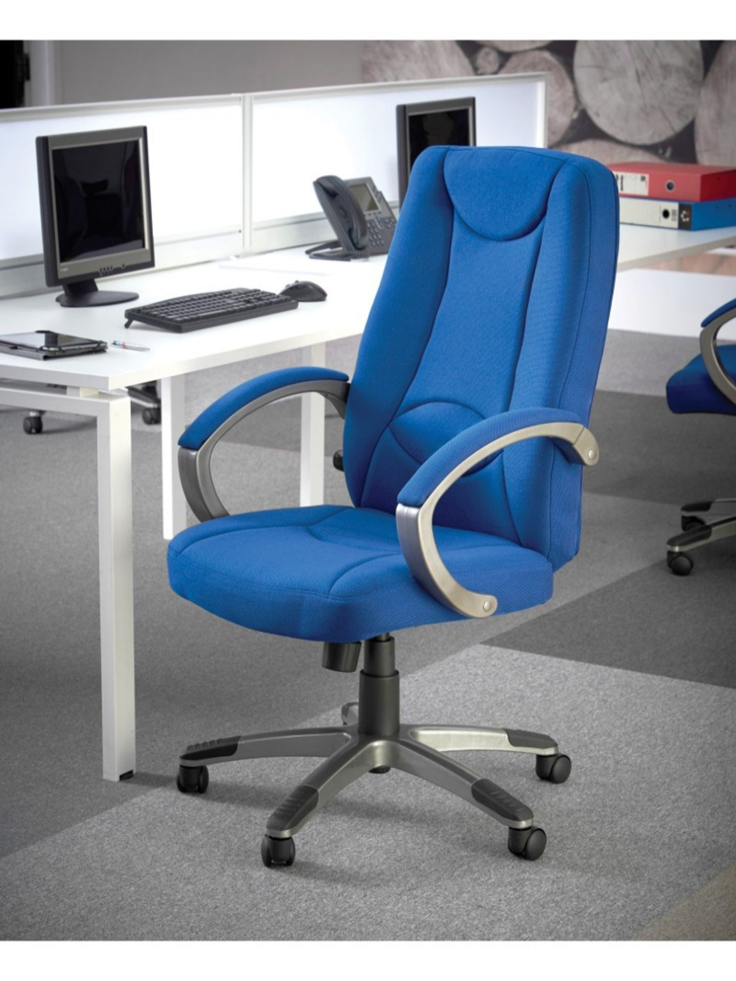 1 BOXED LUCCA OFFICE CHAIR IN BLUE - LUC300T1-B RRP £199