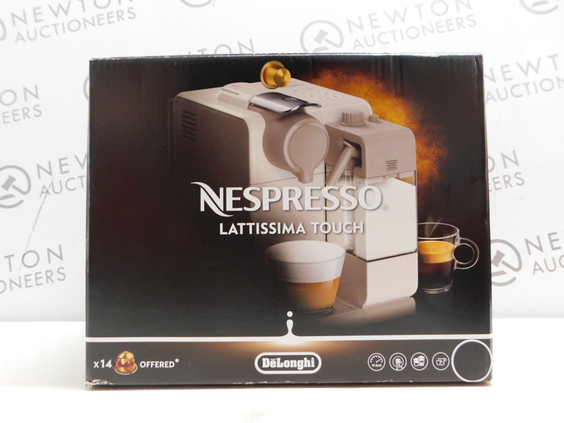 1 BOXED NESPRESSO BY DE'LONGHI LATTISSIMA TOUCH EN560.B COFFEE MACHINE RRP £229