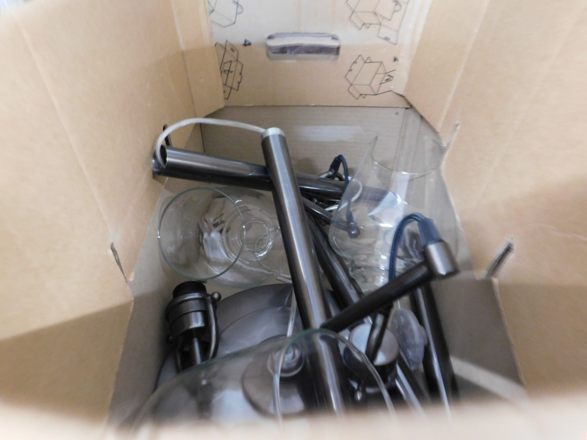 1 STYLECRAFT BASIA 3 ARM NICKEL FLOOR LAMP RRP £89