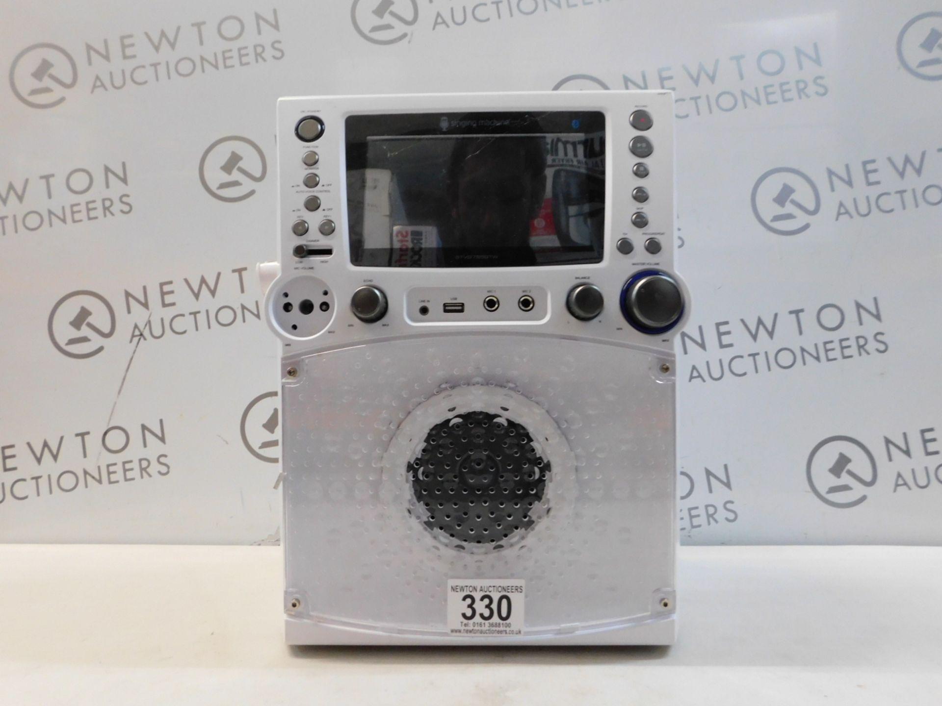 1 SINGING MACHINE STVG785 BLUETOOTH KARAOKE MACHINE WITH DISCO LIGHTS RRP £159