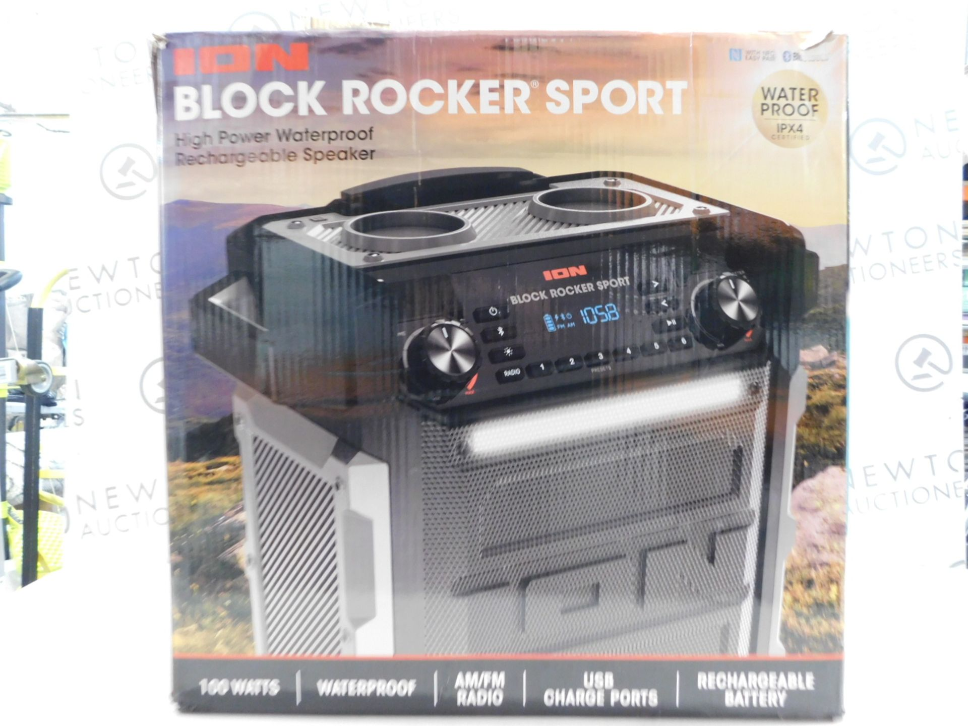 1 BOXED ION BLOCK ROCKER SPORT BLUETOOTH PORTABLE SOUND SYSTEM RRP £299.99
